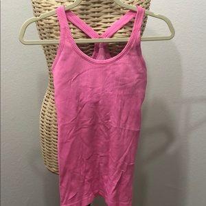 Rubbed neon pink lulu lemon tank top